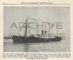 The German steamer Elbe. Published by unknown.
