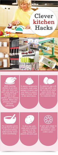 Clever Kitchen Hacks : Health Products For You