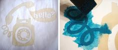 How to stencil with freezer paper | How About Orange