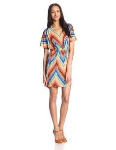 825754029c Short and sweet our Tulip jersey dress is enhanced with batwing sleeves and  a colorful zig · Trina Turk ...