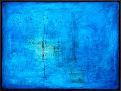 Transition into New | Artspace Warehouse Los Angeles artist Clara Berta  #blue #art #mixedmedia