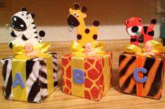 PINTEREST jungle safari baby shower decorations | Baby blocks | Jungle theme baby shower ideas