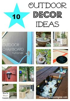 10 Outdoor Decor Ideas to create a more beautiful landscape!