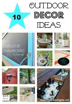 10 Outdoor Decor Ideas to create a more beautiful landscape!