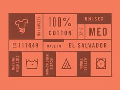 Teespring Private Label - Graphic Design - Label, Clothing Label, Cotton, Wash, Red