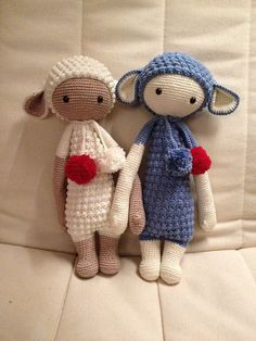 LUPO the lamb made by Stefanie Sch. / crochet pattern by lalylala