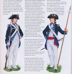 American; Continental Infantry, Virginian Regiment, NCO & Officer, 1779