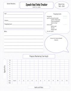 Data tracker for your student's individual speech goals. Allows you to align each goal to a Common Core Learning Standards, plot data onto a line graph and visualize how your student performs across various prompting levels.