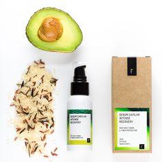 Serum Capilar Intense Recovery. Su concentrado 100% natural combina la acción seca de aceites no grasos como el de jojoba, arroz, macadamia, aguacate y camelia con la potente actividad antioxidante de la astaxantina.