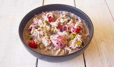 Paleo Apple Berry Bircher Muesli  Quick Healthy Breakfast. via @themmsisters