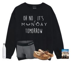 """oh no. tomorrow is monday"" by texasgirlfashion ❤ liked on Polyvore featuring NIKE, UGG Australia and S'well"