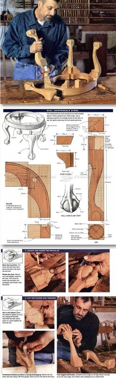 Oval Chippendale Stool Plans - Furniture Plans and Projects | WoodArchivist.com