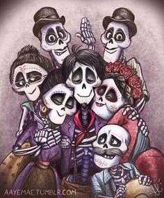 The Space Between Coco Disney, Disney Fan Art, Disney Pixar, Skeleton Drawings, Halloween Drawings, Disney Fanatic, Disney Addict, Disney Memes, Disney Cartoons