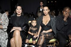 Kris Jenner North West and Kim Kardashian/ WHILE I DON'T AGREE WITH LIL NORI'S LINGERIE LOOK OUTFIT~ YOU GOTTA ADMIT SHE'S KILLIN IT!  SHE'S SOOOOOOO ADORABLE I CAN'T STAND IT!  ♥ GO NORI! ♥