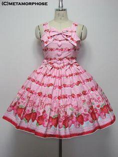 metamorphose temps de fille CHERRY BERRY リボンジャンパースカート