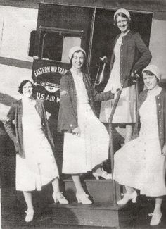 Eastern starting using stewardesses back in the days of Eastern Air Transport. In the beginning, Eastern's flight attendants wore nurses uniforms. As years passed, they eventually got away from wearing nurses uniforms and modernized their look, changing them quite often.