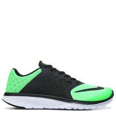 brand new e9295 2ab39 Nike Men s FS Lite Run 3 Running Shoes (Black Green) Run 3,