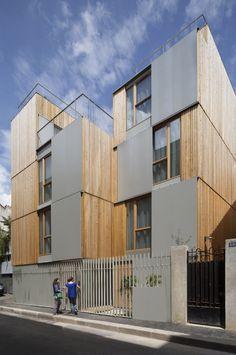 27 logements étudiants, Paris 20 Maîtrise d'oeuvre : Babin+Renaud architectes  Maîtrise d'ouvrage: Paris Habitat - Oph Adresse : 52 rue des Cascades, Paris 20
