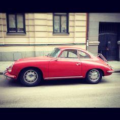Hello gorgeous! Red Porsche 356