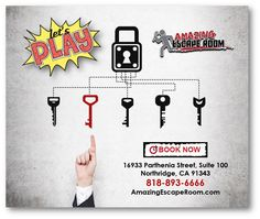 Come and see what all the fuss is about! Book an Escape Room at Amazing Escape Room Los Angeles TODAY: