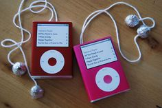 Valentine IPods made from candy heart boxes and Hershey Kisses  Home by Heidi: {Valentine Update}