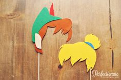 Peter Pan and Tinkerbell Photo Props // Peter Pan door Perfectionate, $40,00