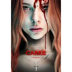 'CARRIE' (MGM/Screen Gems, is the third film adaptation of Stephen King's 1974 novel of the same name. The film stars Chloë Grace Moretz as Carrie White, and Julianne Moore as Carrie's mother, Margaret White. The movie will be released on October Halloween Movies, Scary Movies, Good Movies, Movies Free, Popular Movies, Chloë Grace Moretz, Horror Movie Posters, Horror Movies, Horror Films
