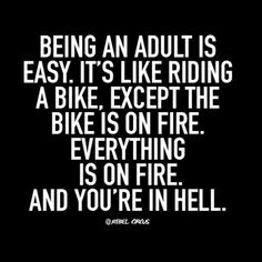 Being an adult is easy. Rebel Circus Quotes, Rebel Quotes, Me Quotes, Funny Quotes, Funny Memes, Humor Quotes, Sarcasm Meme, Haha Funny, Funny Stuff