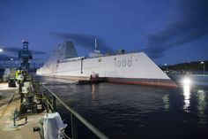 The ship, the future USS Zumwalt (DDG 1000), will be the first of three ships in the Navy's newest destroyer class, designed for littoral operations and land attack. Description from blackstonetoday.blogspot.com. I searched for this on bing.com/images