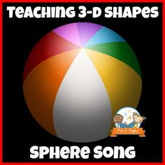 Simple Sphere Song for Teaching Shapes in Preschool and Kindergarten Kindergarten Art Activities, Preschool Lessons, Preschool Learning, Math Lessons, In Kindergarten, Preschool Shapes, Shape Activities, Irises, Teaching Shapes