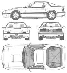 RX-7 Skematics Blender 3d, Sports Car Wallpaper, Sky Aesthetic, Car Illustration, Car Drawings, Car Sketch, Japanese Cars, Kit Cars, Car Wallpapers