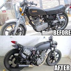 My 5th bike that i got in 2006: #1979 #yamaha #sr500 #thumper turned #bratstyle #caferacer in #tdot #toronto #dotheton