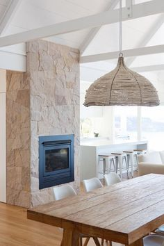 BBQ and fireplace stone Home Fireplace, Fireplace Design, Stone Fireplaces, Home Interior, Interior Architecture, Sunrise Home, Open Plan Living, Inspired Homes, Interior Design Inspiration