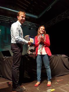 Concejala de Juventud, Marta Mejías López y el director general del INJUVE, Javier Dorado Soto.