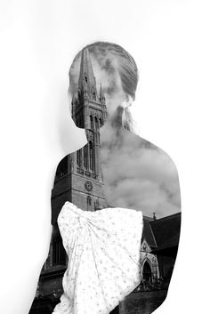 Unusual portraiture, photo montage inspired by Erin chase