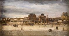 Démolition du château des Tuileries (1883) - Conservé un Musée du Louvre à Paris