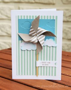 stempel einfach: Two in One... pinwheel card