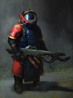 ArtStation - tank guardian, Felipe Arciniegas