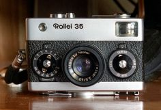 https://flic.kr/p/bGTzfD | Rollei 35 camera (Rolleiflex 6x6 with 35mm Rolleikin adapter) | Rollei 35 made by Rollei Singapore in 1973, it was the smallest full frame 35mm camera at the time. Taken with Kodak Vision 3 250d motion picture film loaded in cartridge for 35mm still cameras, ECN-2 process.  Rolleiflex 2.8C Xenotar Schneider 2.8/80 lens, Rolleikin 35mm adapter, Rolleinar 1 set, Kodak Vision 3 250d color negative motion picture film, ECN-2 process.
