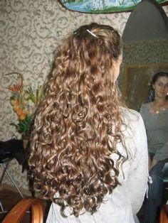 extremely long hair perm - -