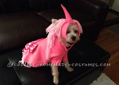 Pink Unicorn Costume for Little Puppy... This website is the Pinterest of costumes