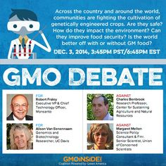 LIVE GMO DEBATE STREAM: This evening Intelligence Squared will be hosting an Oxford-style debate on GMOs. The debate aims to tackle questions concerning the safety of GMOs, how they impact the environment, if they can improve food security, and ultimately if the world is better off with or without them. Watch the debate live here: http://gmoinside.org/live-stream-watch-tonights-highly-anticipated-gmo-debate #GMOs #food #debate