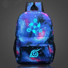 Hot Naruto Luminous Rucksack Hokage School Travel laptop Bag for Teenagers Japanese Anime Canvas Backpack Bolsas Mochila Escolar