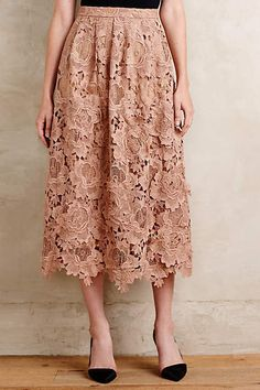 47863b77fde NWT Anthropologie Primrose Midi Skirt by Moulinette Soeurs Size 8   Anthropologie  midiskirt Anthropologie Clothing
