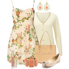 """Floral Summer Dress & Flats"" by casuality on Polyvore"