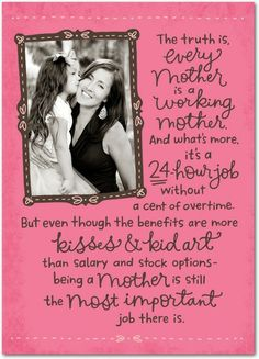 Working Mom Letter - Mother's Day Greeting Cards in Medium Pink | Hallmark