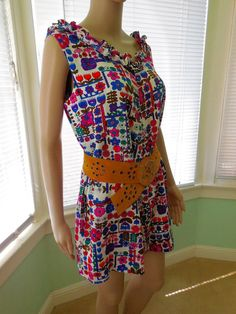 748626852a5 Vintage HAWAIIAN Top Hawaiian Blouse Babydoll Dress Boho Hippie Dress Mini  Dress Floral Shift Dress MEI JAN 60s Hawaiian Sun Dress Med-Large