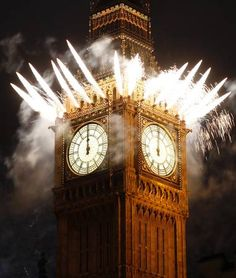Big Ben/Elizabeth Tower, New Year's Eve, London. Celebration Around The World, New Year Celebration, Sylvester Party, Happy New Year 2015, Auld Lang Syne, Nouvel An, Culture Travel, Great Britain, London England