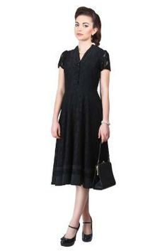 Vivienne Lace Swing Dress 0