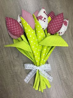 Your place to buy and sell all things handmade Wedding Flower Arrangements, Wedding Flowers, Handmade Birthday Gifts, Tulip Bouquet, Green Dot, Tulips, Dinosaur Stuffed Animal, Dots, Homemade